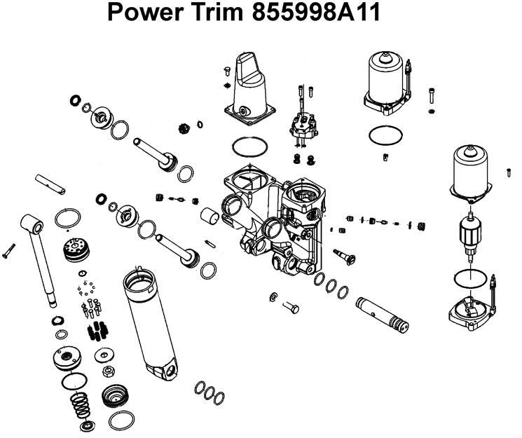 666 Power Trim E Ricambi Mercury Mariner 855998a11 on 90 Hp Mercury Outboard Wiring Diagram