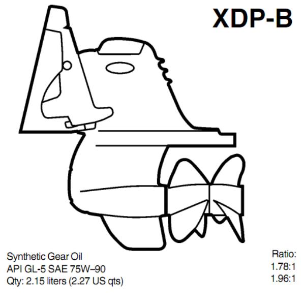 XDP-B PIEDE VOLVO PENTA